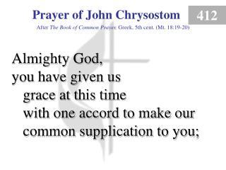 Prayer of John Chrysostom