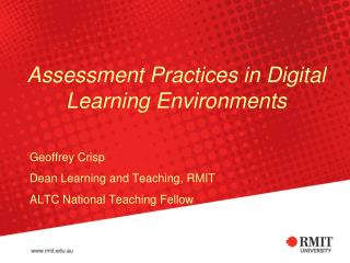 Assessment Practices in Digital Learning Environments