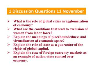 1 Discussion Questions 11 November