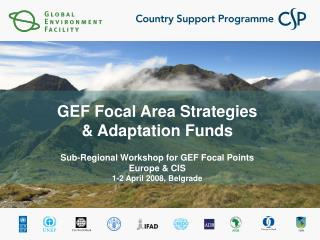 GEF Focal Area Strategies  & Adaptation Funds