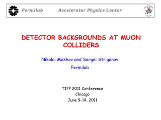 DETECTOR BACKGROUNDS AT MUON COLLIDERS