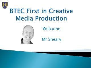 BTEC First in Creative Media Production