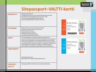Sitepassport–VALTTI-kortti