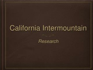 California Intermountain