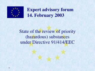 Expert advisory forum  14. February 2003