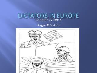 Dictators In Europe
