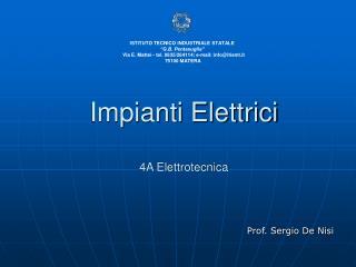 Impianti Elettrici 4A Elettrotecnica