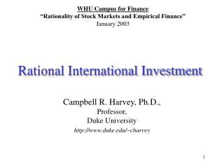 Rational International Investment