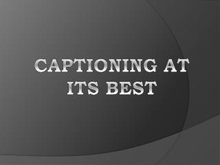 Captioning services from captioningstar