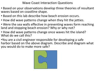 Wave Coast Interaction Questions