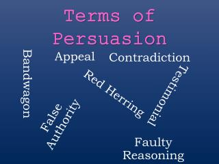 Terms of Persuasion