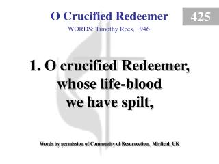 O Crucified Redeemer (1)