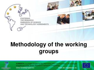 Methodology of the working groups