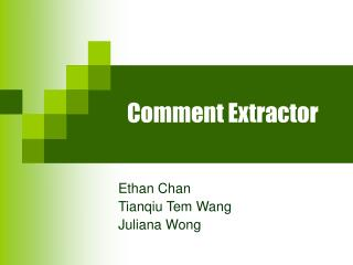 Comment Extractor