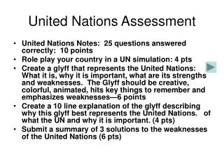 United Nations Assessment