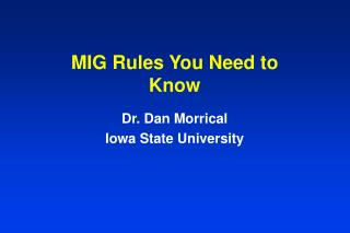 MIG Rules You Need to Know