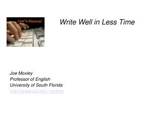 Write Well in Less Time