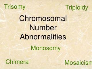 Chromosomal Number Abnormalities