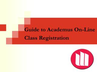 Guide to Academus On-Line Class Registration