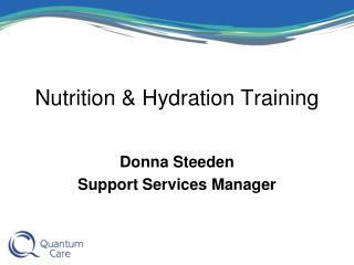 Nutrition & Hydration Training
