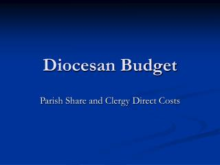 Diocesan Budget
