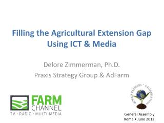 Filling the Agricultural Extension Gap  Using ICT & Media