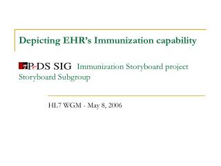 Depicting EHR's Immunization capability