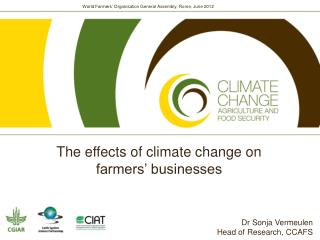 How does climate change affect farmers' businesses?