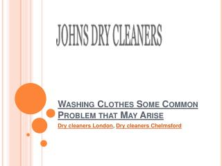 Washing Clothes Some Common Problem that May Arise