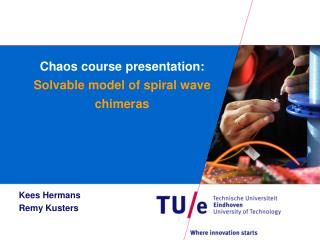 Chaos course presentation: Solvable model of spiral wave chimeras