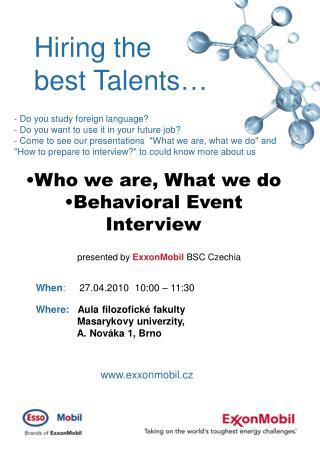 Hiring the best Talents …