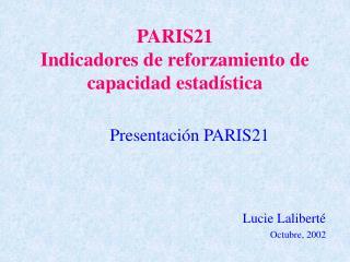 PARIS21  Indicadores de reforzamiento de capacidad estadística