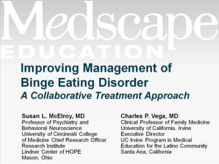 Improving Management of Binge Eating Disorder A Collaborative Treatment Approach