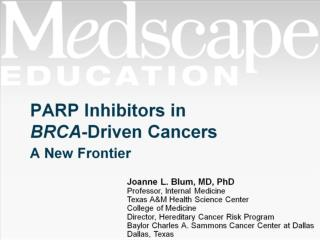 PARP Inhibitors in  BRCA -Driven Cancers