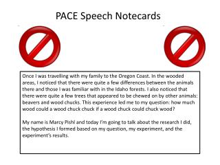 PACE Speech  Notecards