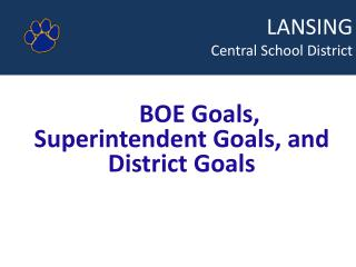 LANSING  				Central School District