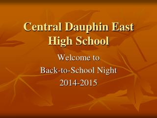 Central Dauphin East High School