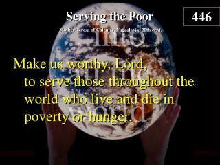 Serving the Poor