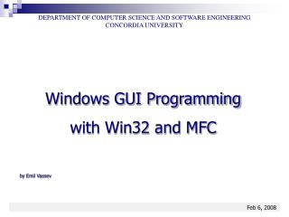 Windows GUI Programming with Win32 and MFC