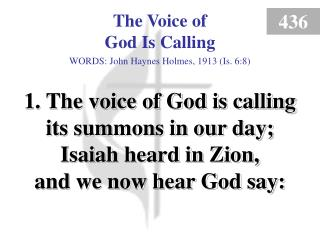 The Voice of God Is Calling (1)