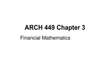 ARCH 449 Chapter 3