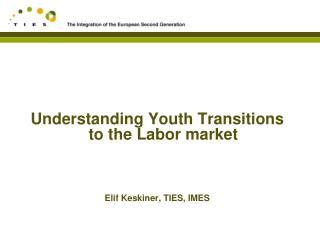 Understanding Youth Transitions to the Labor market Elif Keskiner, TIES, IMES