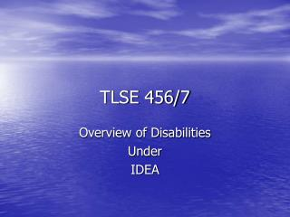 TLSE 456/7