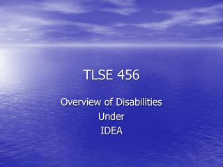TLSE 456