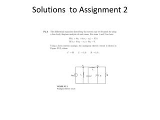 Solutions  to Assignment  2