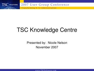 TSC Knowledge Centre