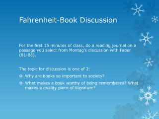 Fahrenheit-Book Discussion