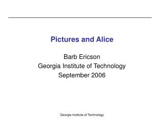 Pictures and Alice