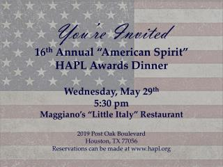 2013 16th Annual Awards Dinner