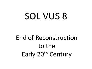 SOL VUS 8